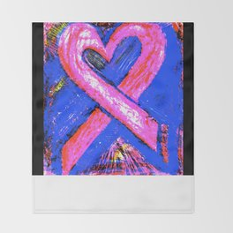 Super-Ribbon!! A Pink Ribbon for Breast Cancer Research by Jeffrey G. Rosenberg Throw Blanket