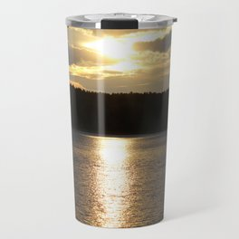 Sunset at Concord's Walden Pond 8 Travel Mug