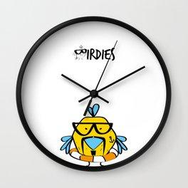 Birdie Floatie Wall Clock