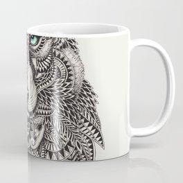 Wolf Head Detailed Illustration Coffee Mug