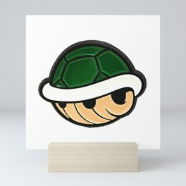 Turtle Shell - Mario Bros Mini Art Print