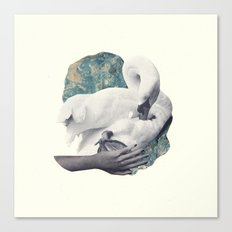 Hand Swan Canvas Print
