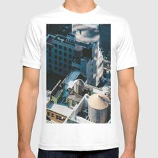 New York sky view Mens Fitted Tee White MEDIUM