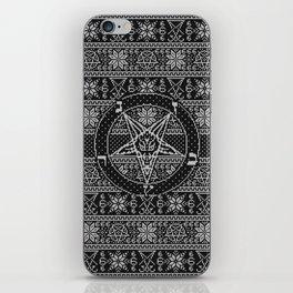 Satanic ugly sweater iPhone Skin
