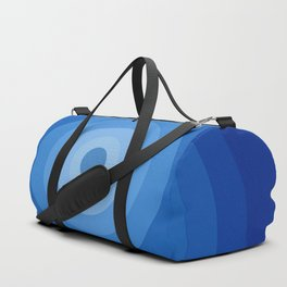 Blue Retro Bullseye Duffle Bag