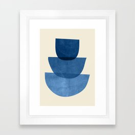 Abstract Shapes 37-Blue Framed Art Print