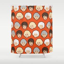 The Golden Girls Orange Pop Art Shower Curtain
