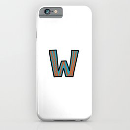 Uppercase Letter W iPhone Case