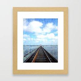 Track Through the Bay. Framed Art Print