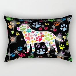 I love Dogs by Nico Bielow Rectangular Pillow