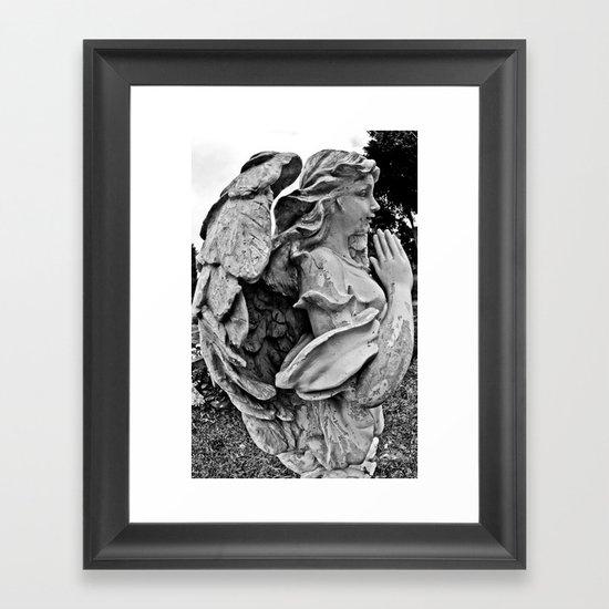 Angel profile Framed Art Print