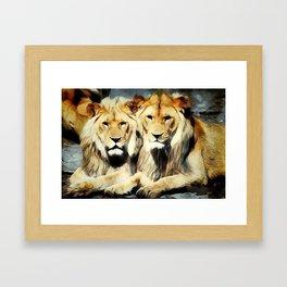 lion's harmoni Framed Art Print