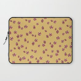 Peppermint Candy in Yellow Laptop Sleeve