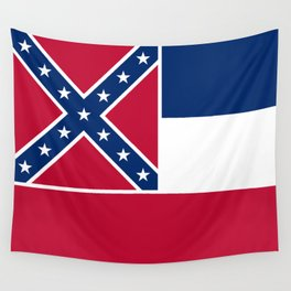 Mississippi State Flag, Authentic Version Wall Tapestry