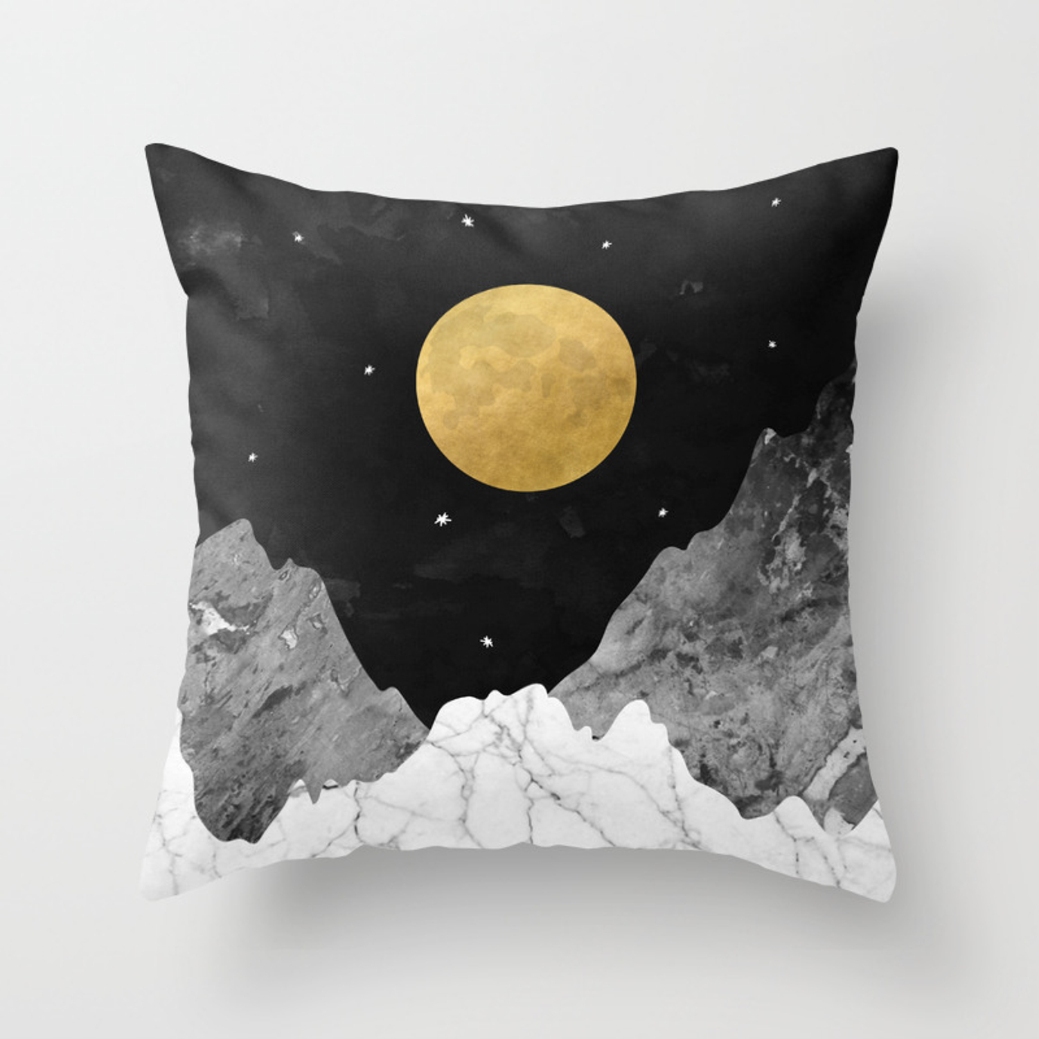 Moon And Stars Throw Pillow By Kookiepixel Society6