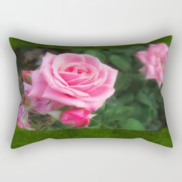 Pink Roses in Anzures 1 Blank P1F0 Rectangular Pillow