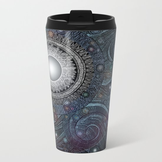 Feather Moon Metal Travel Mug