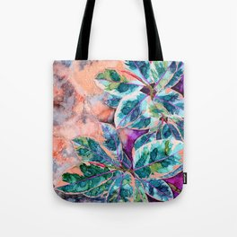 Rubber Tree - Alcohol Ink Tote Bag