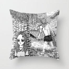 In Hiding Throw Pillow