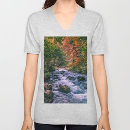 Mountain river Unisex V-Neck