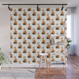 Red Fox Pattern Wall Mural