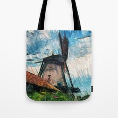 skatching windmill  Tote Bag