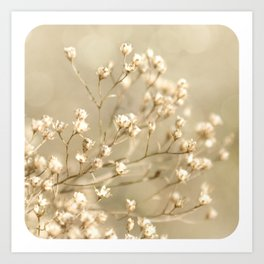 Softer I Botanical Flora Nature Neutral Tan Cream  Art Print