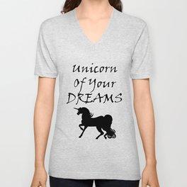 Unicorn Of Your Dreams (Black) Unisex V-Neck