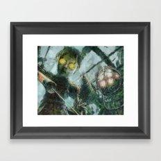Bioshock Big Daddy & Little Girl Framed Art Print