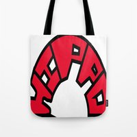 hippo Tote Bags featuring Hippo by JDHicks