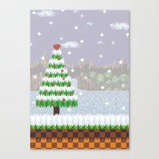 Green Hill Christmas Canvas Print