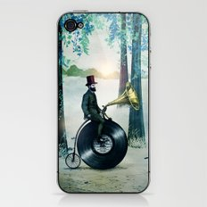 Music man in the woods by Eric Fan & Viviana González iPhone & iPod Skin