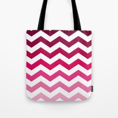 Pink Ombre Chevron Tote Bag