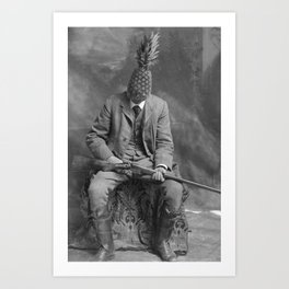 Mr. Pineapple with shotgun. 1904. Art Print