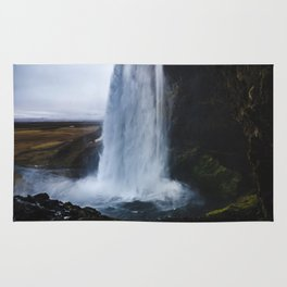 Waterfall in Iceland Rug