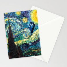 Tardis Starry Night Stationery Cards