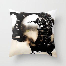 Vatican Sphere photography, Vatican Museum Italy, Abstract bronze sculpture Throw Pillow