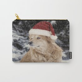 A Golden Christmas Carry-All Pouch