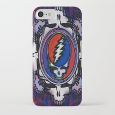 Grateful Dead 'Steal Your Face' Psychedelic Skull Optical Illusion iPhone 7 Slim Case