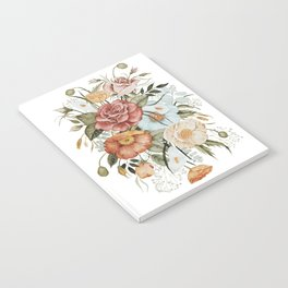 Roses and Poppies Notebook