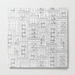 New York Hand Drawn Illustration Metal Print