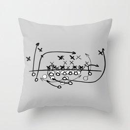 Football Soccer strategy play Diagram  Throw Pillow