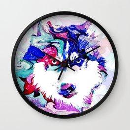 Dog 148 Husky Wall Clock
