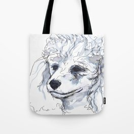 Poodle (portrait for my mom), watercolor Tote Bag