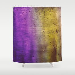 Purple and Yellow Frozen in Time Shower Curtain