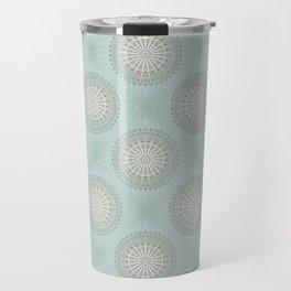 Mint Taupe Mandala Travel Mug