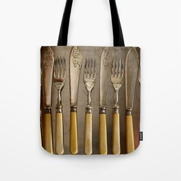 Vintage Cutlery - Kitchen Decor Tote Bag