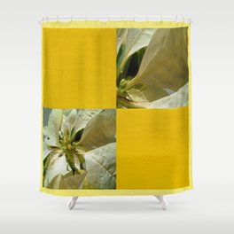 Pale Yellow Poinsettia 1 Blank Q7F0 Shower Curtain