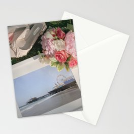 Romantic Santa Monica Pier framed Photo for Wedding or Valentine's Day Stationery Cards