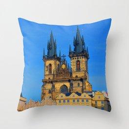 Prague Astronomical Clock Throw Pillow